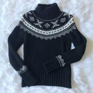 GAP Black and White Wool Sweater